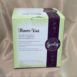 Scentsy Accents - Flower Vine Deluxe Scentsy Warmer New In Box